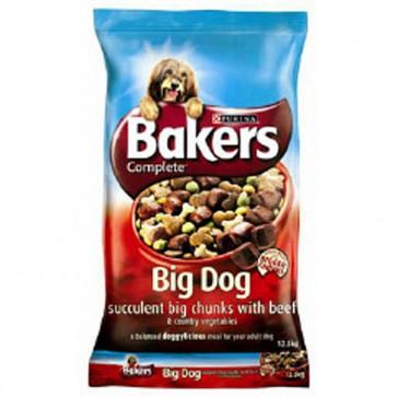 Bakers Big Bites Beef & Vegetables Dog Food 12.5kg