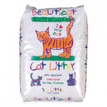 Beauticat Wood Based Cat Litter 18kg/30l