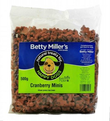 Betty Miller Cranberry Minis 500g