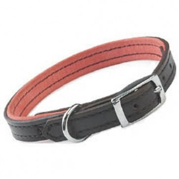 Ancol Leather Pink Suede Dog Collar