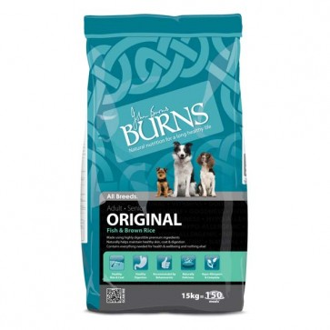 Burns Fish & Brown Rice Dog Food 15kg