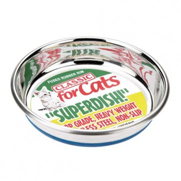 Classic Superdish Stainless Steel Non Slip Cat Dish