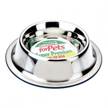 Classic Stainless Steel Non Tip Dog Bowl