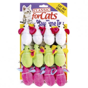 Classic Satin Mouse & Bell For Cats
