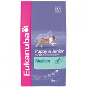 Eukanuba Puppy/Junior Medium Breed Food 15kg