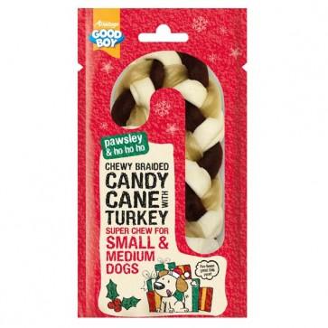Good Boy Chewy Braided Candy Cane Small & Medium
