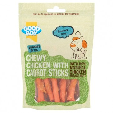 Good Boy Chewy Chicken with Carrot Sticks
