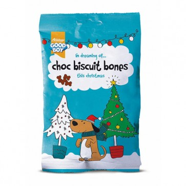 Good Boy Xmas Choc Biscuit Bones