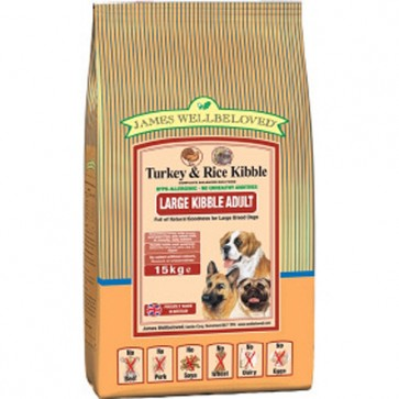James Wellbeloved Turkey & Rice Dog Food Varieties 15kg