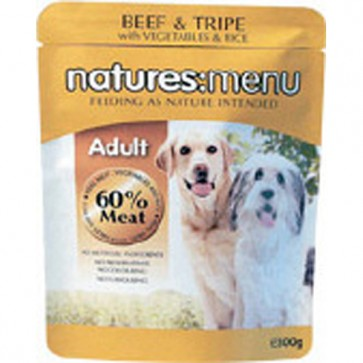 Natures Menu Adult Beef & Tripe Dog Food 8 x 300g