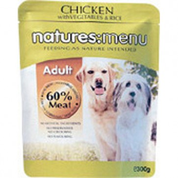 Natures Menu Adult Chicken, Vegetables & Rice Dog Food 8 x300g