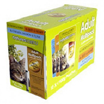 Natures Menu Adult Cat Food  Multipack 48x100g
