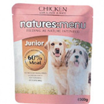 Natures Menu Junior Chicken, Lamb & Rice Dog Food 8 x 300g