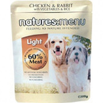 Natures Menu Light Chicken & Vegetables Dog Food  8 x 300g
