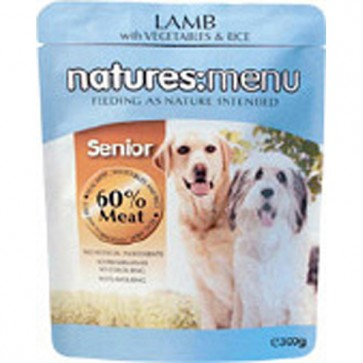 Natures Menu Senior Lamb & Vegetables Dog Food 8 x 300g