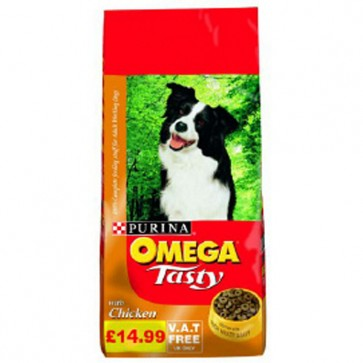 Omega Tasty Adult Chicken Dog Food 15kg
