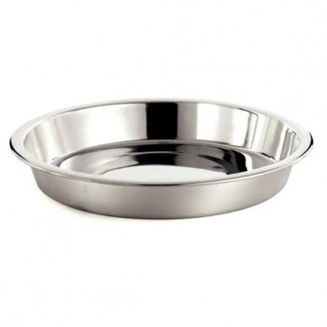 Classic Stainless Steel Shallow Dog Bowl
