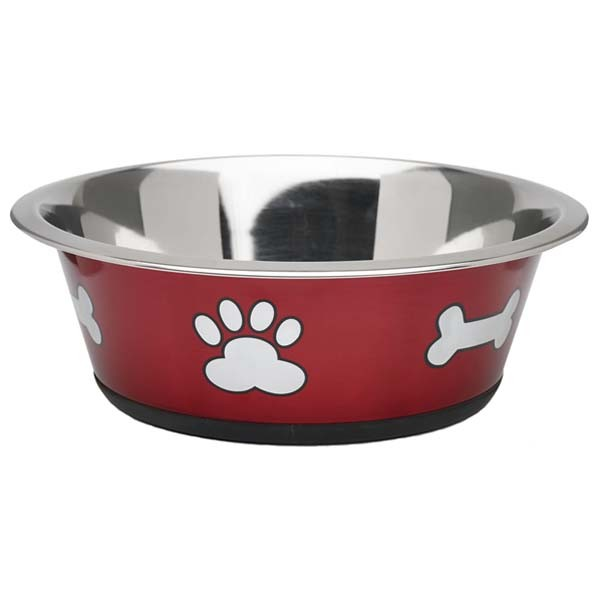 Dog Bowls Red Water