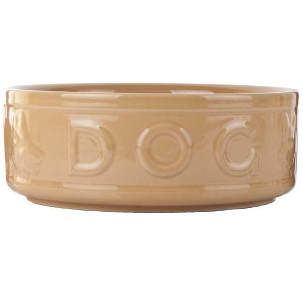 mason cash cane style dog embossed bowl 10in