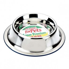 Classic Premium Stainless Steel Non Tip Dog Bowl