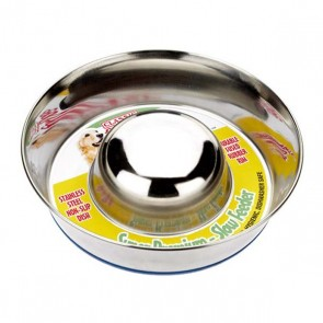 Classic Stainless Steel Non-Slip Slow Feeder Dog Bowl