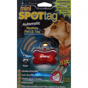 Mini Spot Flashing I.D. Dog Tag