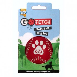 Good Boy Go Fetch Soft Ball - Red