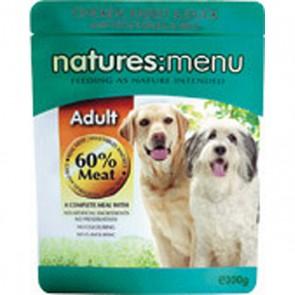 Natures Menu Adult Chicken, Rabbit & Duck Dog Food 8 x 300g