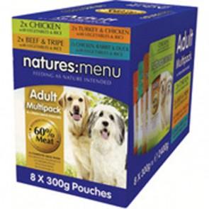Natures Menu Adult Multipack Dog Food 8 x 300g