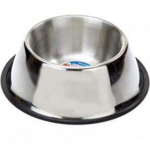 Classic Stainless Steel Spaniel Non Tip Dog Bowl